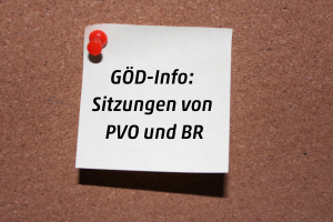 GÖD-Info zu Sitzungen von PVO und BR