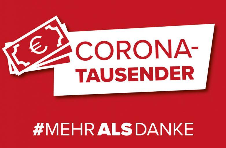 Corona-Tausender #mehralsdanke!