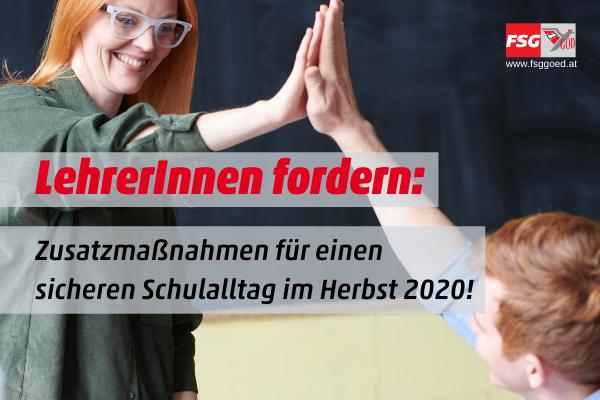 Sozialdemokratische LehrerInnengewerkschaft kritisiert Maßnahmen von Minister Faßmann
