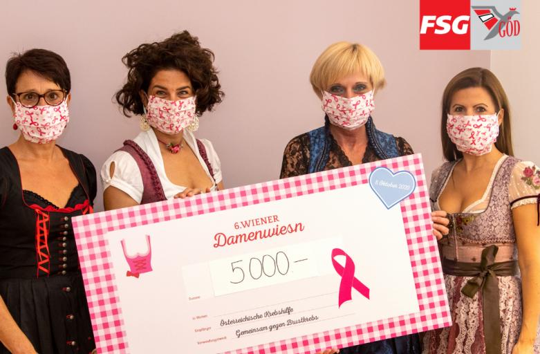6. Wiener Damenwiesn: FSG-GÖD Frauen im Einsatz gegen Brustkrebs!