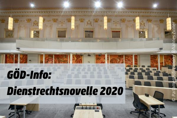 GÖD-Info: Dienstrechtsnovelle 2020