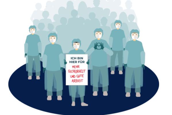 """""""Von Beruf Mensch"""": Flashmob für mehr Personal, Zeit und Investitionen für das öffentliche Gesundheitssystem"""