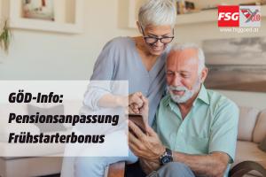 GÖD-Info: Pensionsanpassung, Frühstarterbonus